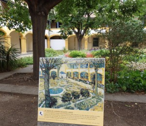 E'SPACE de VINCENT VAN GOGH Garden courtyard of hospital where he spent time