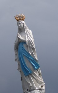 Our Lady atop Lourdes Cathedral
